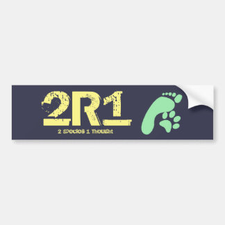 2R1 (2 Species - 1 Thought) Bumper Sticker