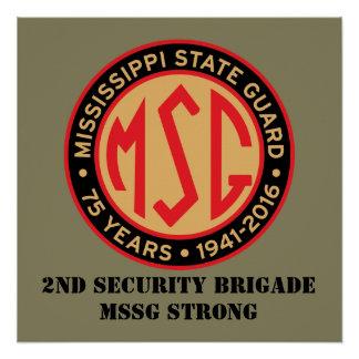 2rd Brigade Retro Glossy Poster 20x20