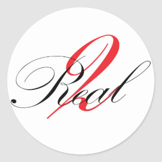 2Real Signature Series Classic Round Sticker