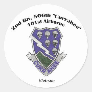 2s-506o pegatinas - Vietnam Pegatina Redonda