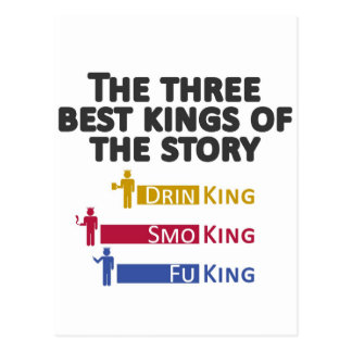 2The three best kings of the story Postcard