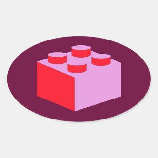 2x2 Brick by Customize My Minifig Oval Sticker