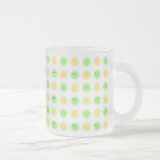 2x2 Little Faces YxG Frosted Glass Coffee Mug