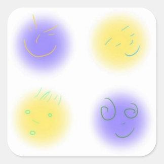 2x2 Little Faces YxP Square Sticker