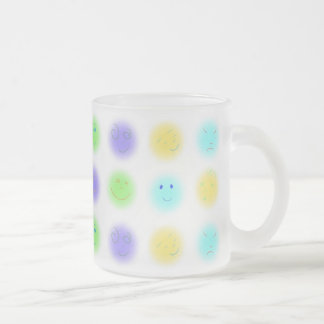 2x4 Little Faces A1 Frosted Glass Coffee Mug