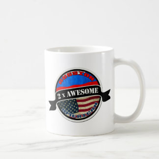 2x Awesome Russian American Coffee Mug