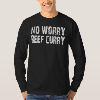 2XL No Worry Beef Curry LONG SLEEVE T-SHIRT
