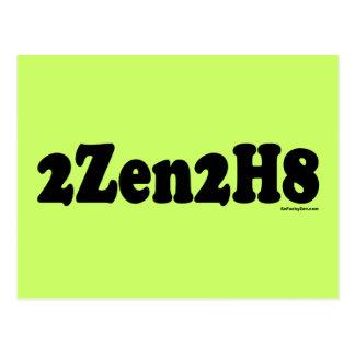 2Zen2H8 Too Zen To Hate Postcard