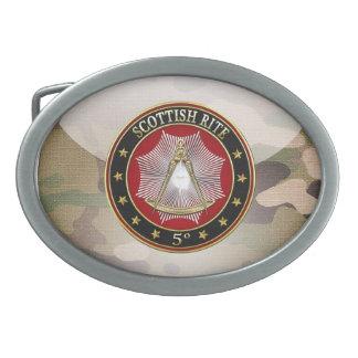 [300] 5th Degree Mason - Perfect Master Jewel Oval Belt Buckle