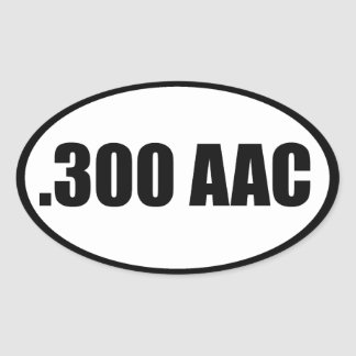 .300 AAC OVAL STICKERS