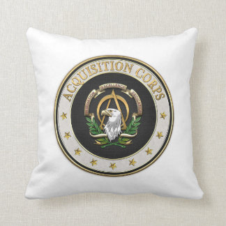 [300] Acquisition Corps (AAC) Branch Insignia [3D] Throw Pillow