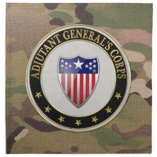 [300] Adjutant General's Corps Branch Insignia [3D Napkin