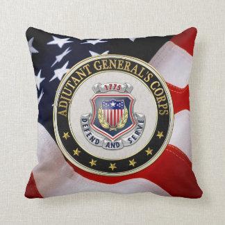 [300] AG Corps Regimental Insignia [3D] Throw Pillow