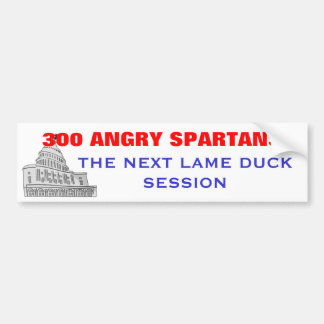 300 Angry Spartans Bumper Sticker