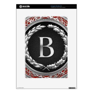 "[300] ""B"" Silver Vintage Monogram Kindle DX Decals"