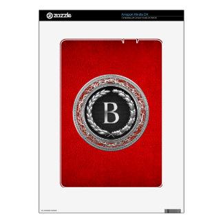 """[300] """"B"""" Silver Vintage Monogram Skins For Kindle DX"""