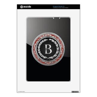 """[300] """"B"""" Silver Vintage Monogram Skins For The Kindle"""