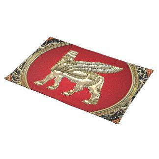 [300] Babylonian Winged Bull Lamassu [3D] Cloth Placemat