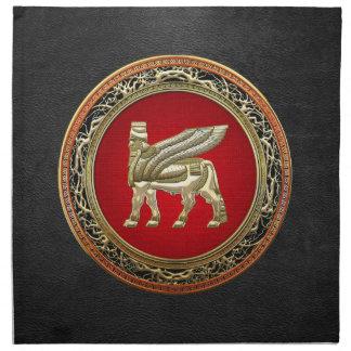 [300] Babylonian Winged Bull Lamassu [3D] Napkin