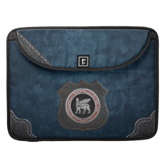 [300] Babylonian Winged Bull [Silver] [3D] Sleeve For MacBook Pro