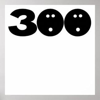 300 bolas de bolos póster
