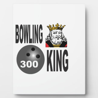 300 bowling king plaque