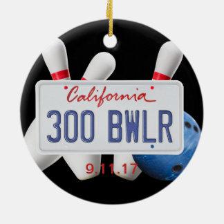 300 Bwlr, California License Place, 300 Game Ceramic Ornament