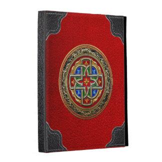 [300] Celtic Cross [Gold+Enamel] iPad Folio Case