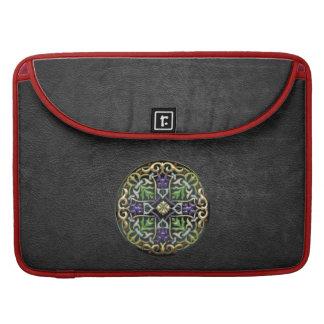[300] Celtic Cross [Gold with Black Enamel] MacBook Pro Sleeve