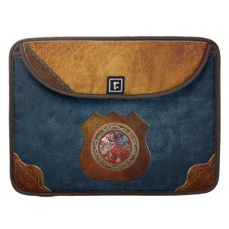 [300] Celtic Treasures - Three Dogs on Gold MacBook Pro Sleeve