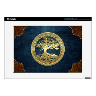 [300] Celtic Tree of Life [Gold] Decal For Laptop