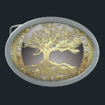 "[300] Celtic Tree of Life [Gold] Oval Belt Buckle<br><div class=""desc"">Introducing ""Sacred Symbols"" Collection by C.7 Design Studio. Here you will find customizable products, featuring Celtic Tree of Life - an ancient symbol illustrating the idea that all life on earth is related. The tree of knowledge, connecting heaven and the underworld, and the tree of life, connecting all forms of...</div>"