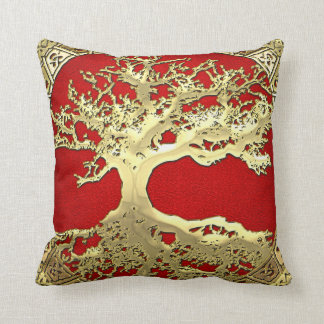 [300] Celtic Tree of Life [Gold] Pillow