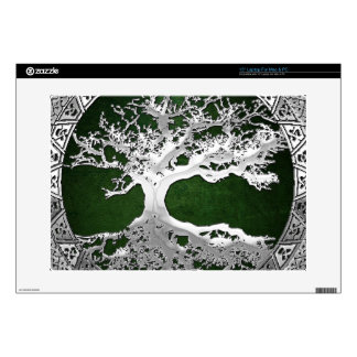 "[300] Celtic Tree of Life [Silver] 15"" Laptop Decal"