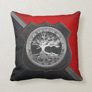 [300] Celtic Tree of Life [Silver] Throw Pillow