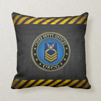 [300] CG: Chief Petty Officer (CPO) Throw Pillow