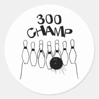 300 Champ Classic Round Sticker