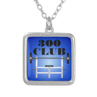 300 Club Bench Press Weightlifting Necklace
