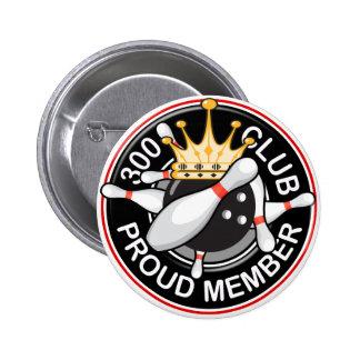 300 Club Bowling Button