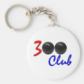 300 Club - Perfect Bowling Game Gift Basic Round Button Keychain