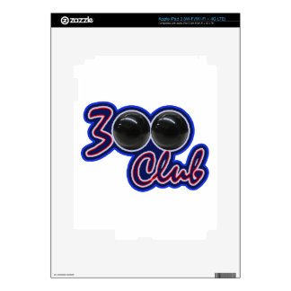 300 CLUB - PERFECT GAME IN BOWLING (BLUE) DECAL FOR iPad 3