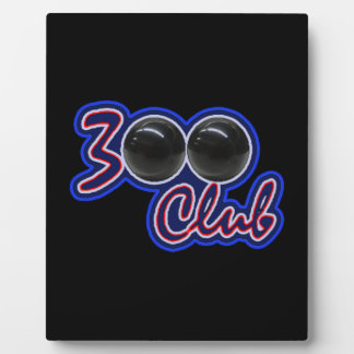 300 CLUB - PERFECT GAME IN BOWLING (BLUE) PLAQUE
