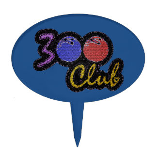 300 CLUB PERFECT GAME IN BOWLING CAKE TOPPER