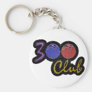 300 CLUB PERFECT GAME IN BOWLING KEYCHAIN