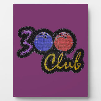 300 CLUB PERFECT GAME IN BOWLING PLAQUE