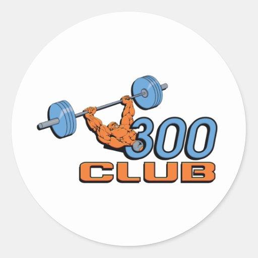 300 Club Round Sticker
