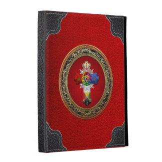 [300] Cruz atractiva (Croix color de rosa) en rojo
