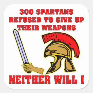 300 espartanos rechazados para dar para arriba sus pegatina cuadrada