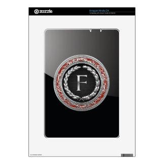 "[300] ""F"" Silver Vintage Monogram Kindle Decals"