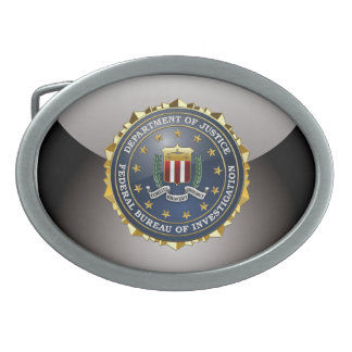 [300] FBI Special Edition Oval Belt Buckle